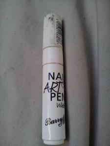 barry m nail art pen white