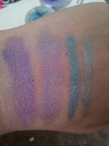 wet swatches