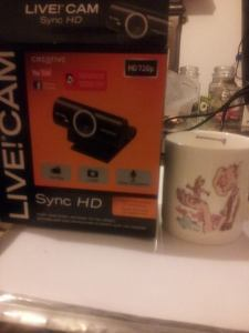 webcam and mug